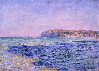 Obra de arte Sombras no Oceano. As Falésias de Pourville. de Claude Monet