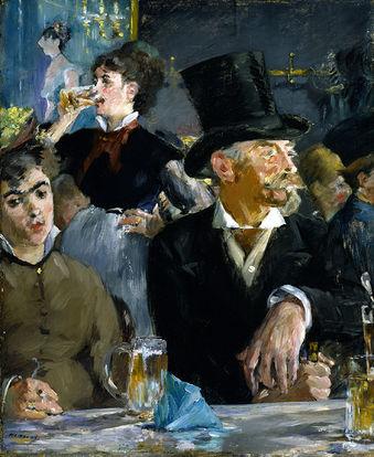 Obra de arte No Café de Édouard Manet