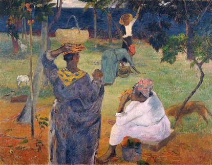 Obra de arte Entre as Mangas em Martinique de Paul Gauguin
