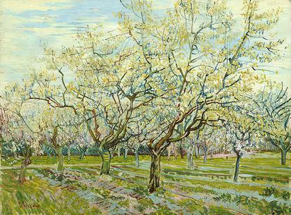 Obra de arte O Pomar Branco de Vincent van Gogh